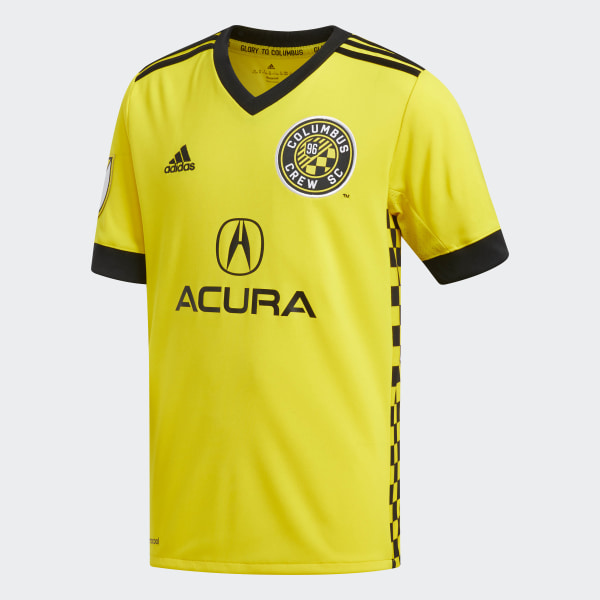 Crew Home Jersey Crew Yellow   Black   White DH3819 bf27bf8f6