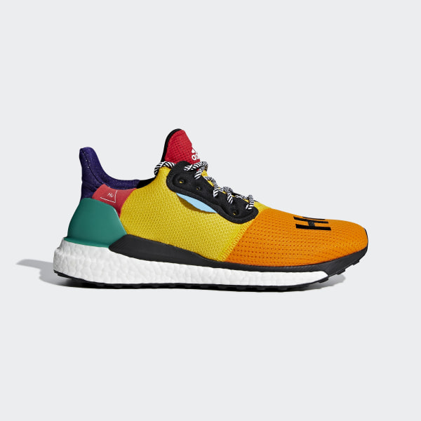 991534fed64a5 Pharrell Williams x adidas Solar Hu Glide Shoes Black   Bold Gold   Bold  Green BB8042