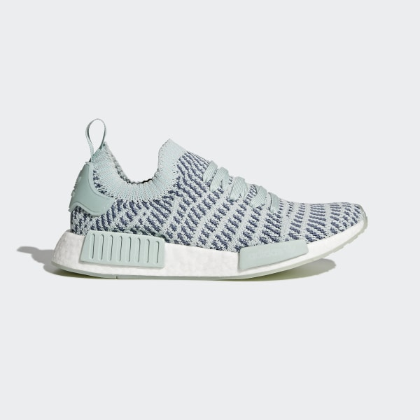 97f0b604bf769 NMD R1 STLT Primeknit Shoes Ash Green Raw Steel Ftwr White CQ2031