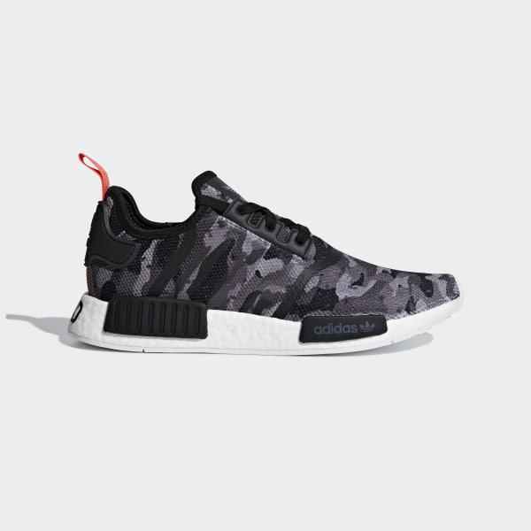 ee0f125b5 NMD R1 Shoes grey four f17   grey four f17   solar red G27913