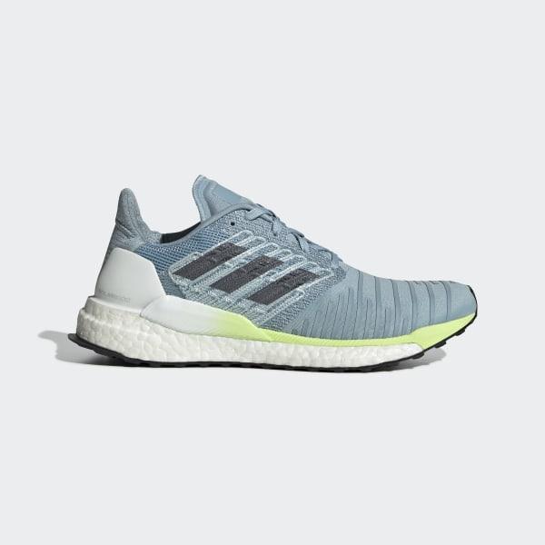 Solar Boost Shoes Ash Grey   Onix   Hi-Res Yellow B96285 b0f1b324419