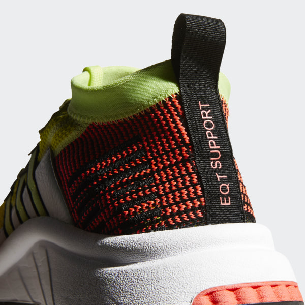 cd72ced9efb02 EQT Support Mid ADV Primeknit Shoes Glow   Core Black   Turbo B37436