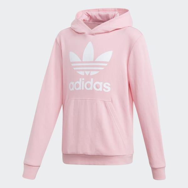 37fe80f5a887 Trefoil Hoodie Light Pink   White DV2877