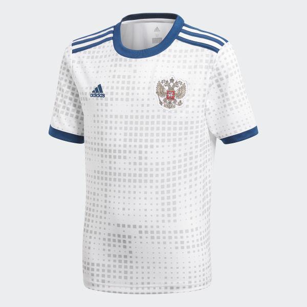 3f2436182b9f2 Camisa Oficial Rússia 2 Juvenil 2018 - Branco adidas