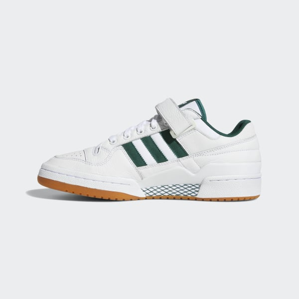 Forum Low Top Shoes Cloud White   Collegiate Green   Gum AQ1261 69f89415b