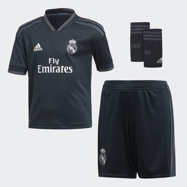 Miniconjunto segunda equipación Real Madrid Tech Onix   Bold Onix   White  CG0560 e785c404b3c96