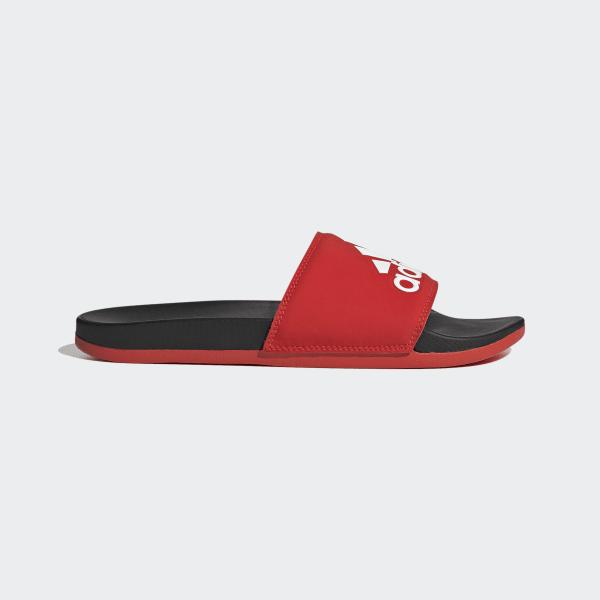 4a813635b347 adidas Adilette Cloudfoam Plus Logo Slides - Red