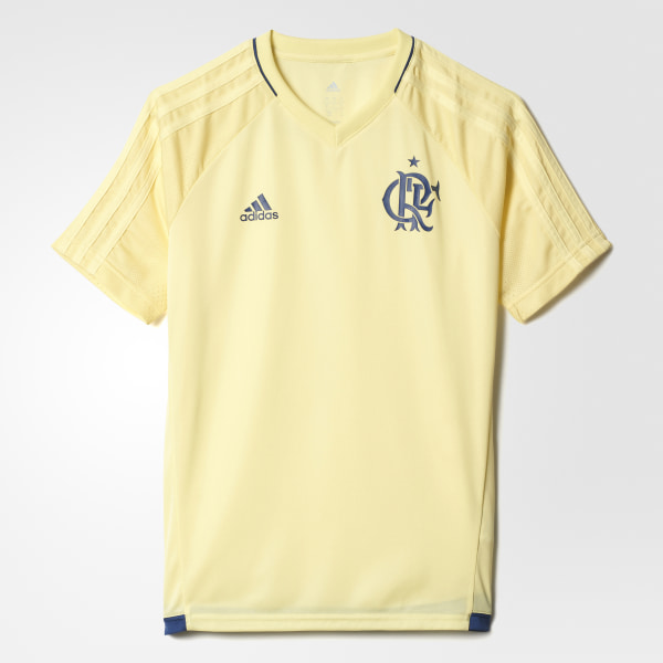 Camisa Treino CR Flamengo Infantil PEARL CITRINE AZ5420 c61ad31549062