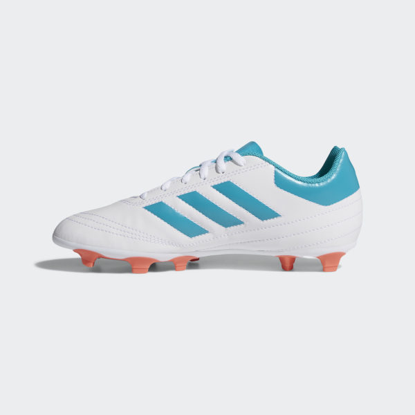 best service 3b5f7 007e8 Goletto 6 Firm Ground Cleats Cloud White  Energy Blue  Easy Coral BY2774