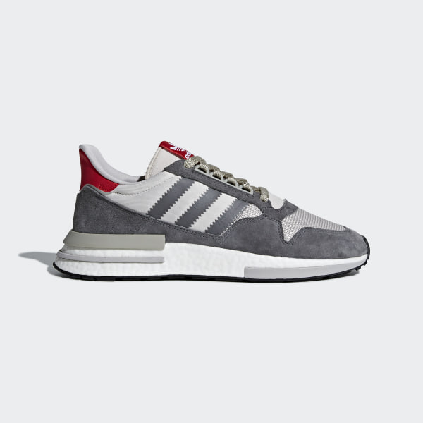 e076adb19 ZX 500 RM Shoes Grey Four   Cloud White   Scarlet B42204