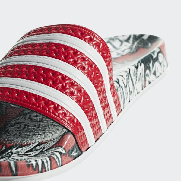 cbb07d2322eab Adilette Slides Scarlet   Off White   Scarlet D96683