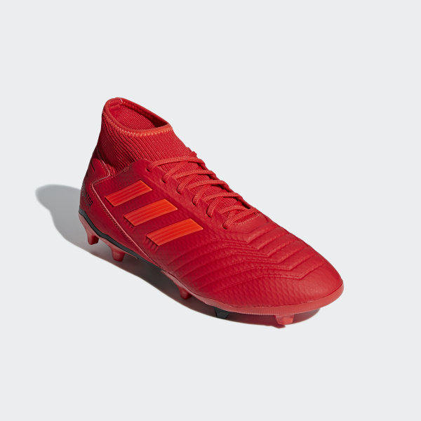 cd96afa4d3c6 Predator 19.3 Firm Ground Boots Active Red   Solar Red   Core Black BB9334