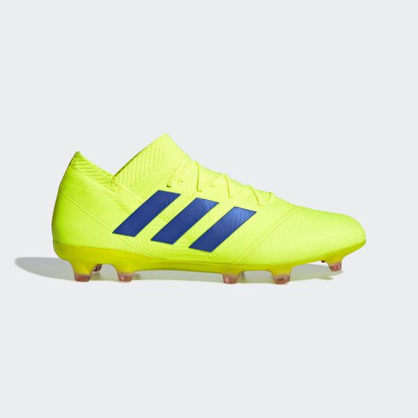 1fc16f1114fcc Calzado de Fútbol Nemeziz 18.1 Terreno Firme Solar Yellow   Football Blue    Active Red BB9426
