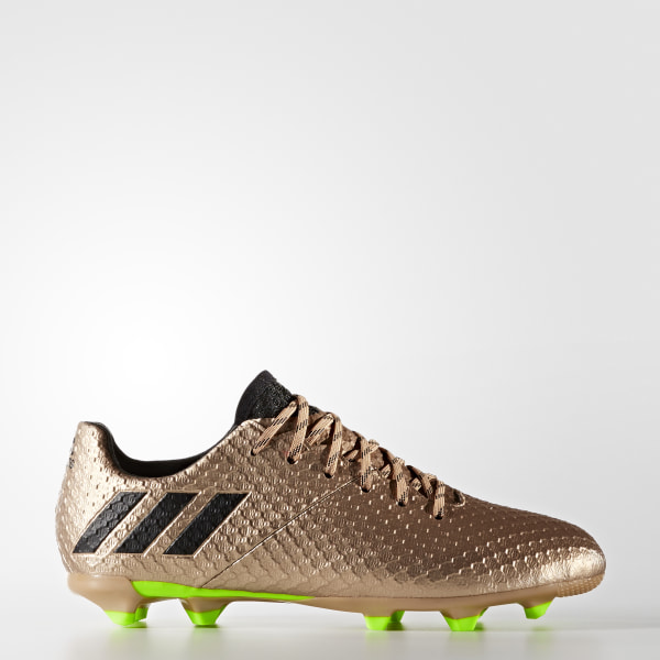purchase cheap 9a259 94fa2 Botas Messi 16.1 Terreno Firme COPPER MET. CORE BLACK SOLAR GREEN BA9830