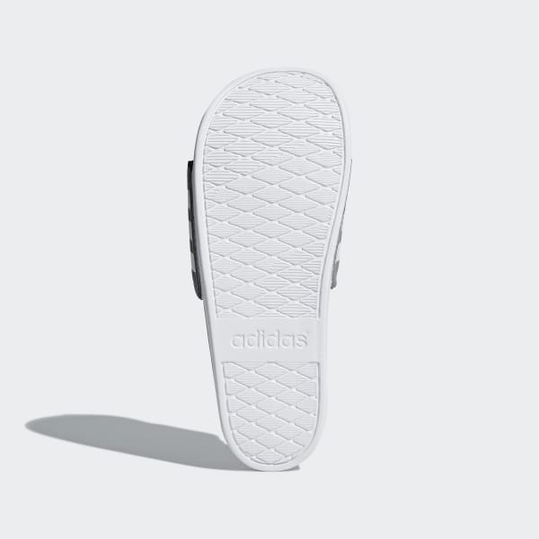 d81914743fbab7 Adilette Cloudfoam Plus Stripes Slides Grey Three   Cloud White   Grey  Three B42115