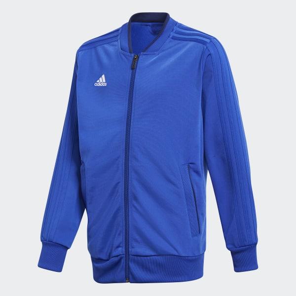 Adidas Fußball Condivo 18 Trainingsjacke Fußballjacke Kinder blau Fußball