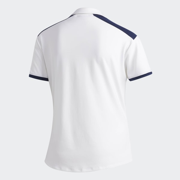 903318d92a1 Ultimate365 Colorblock Polo Shirt White   Night Indigo DV3180