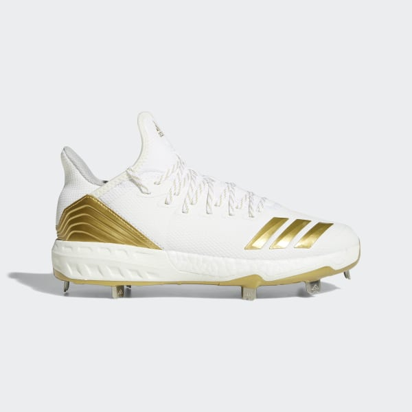 quality design 61f0a b3e10 Boost Icon 4 Cleats Cloud White  Gold Metallic  Running White CM8476