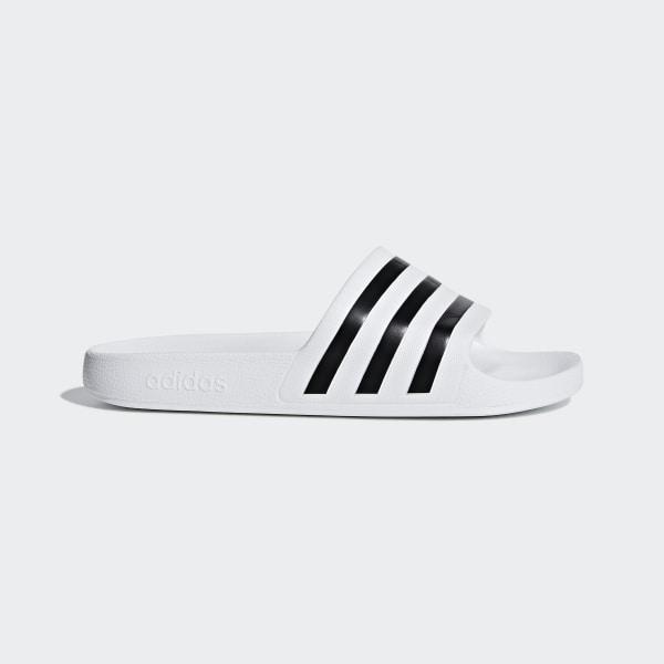 620732192fda Adilette Aqua Slides Ftwr White   Core Black   Ftwr White F35539