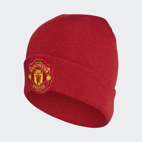 adidas Manchester United Home Beanie - Red  ebb3c563ea6