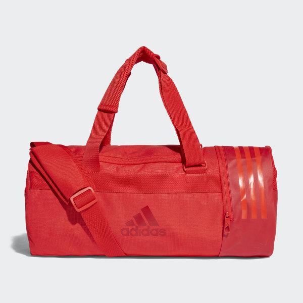 ff315476b1 Bolsa 3 Stripes Duffel Pequena Conversível HI-RES RED S18 HI-RES RED