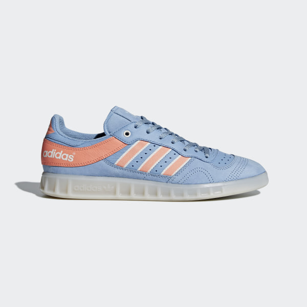 low priced 82592 f45c0 Oyster Holdings Handball Top Shoes Ash Blue  Chalk Coral  Chalk White  DB1978