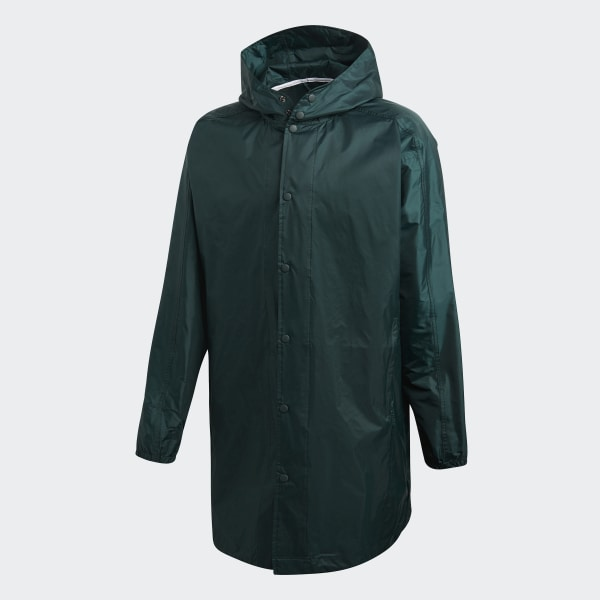 Trefoil Manager Coat Green Night CW1319 4a02d5c0685