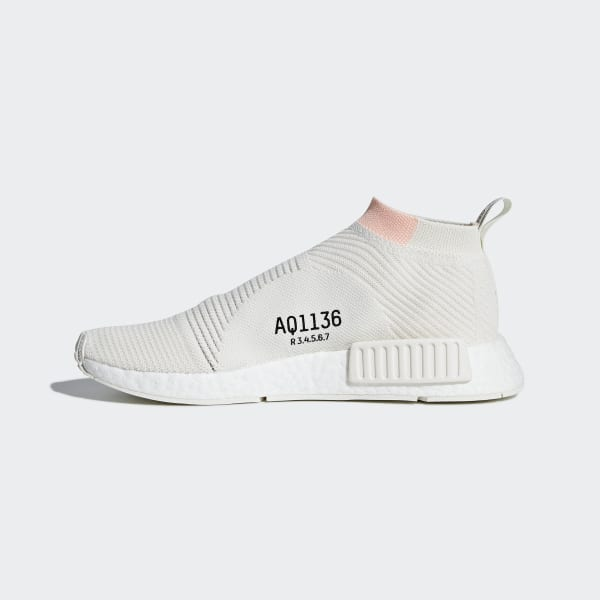 1af0eb423d083 NMD CS1 Primeknit Shoes Running White   Running White   Clear Orange AQ1136