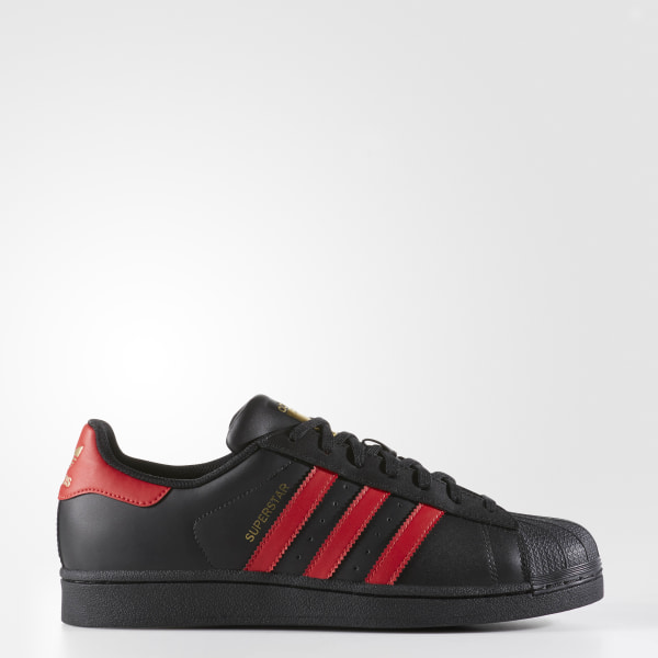 first rate 6fa8f ad5b7 Superstar Shoes Core Black   Scarlet   Gold Metallic S80694