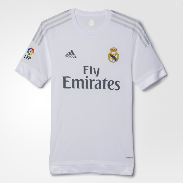 87a7bcf30efc6 CAMISETA REAL MADRID HOME AUTHENTIC WHITE CLEAR GREY S12654