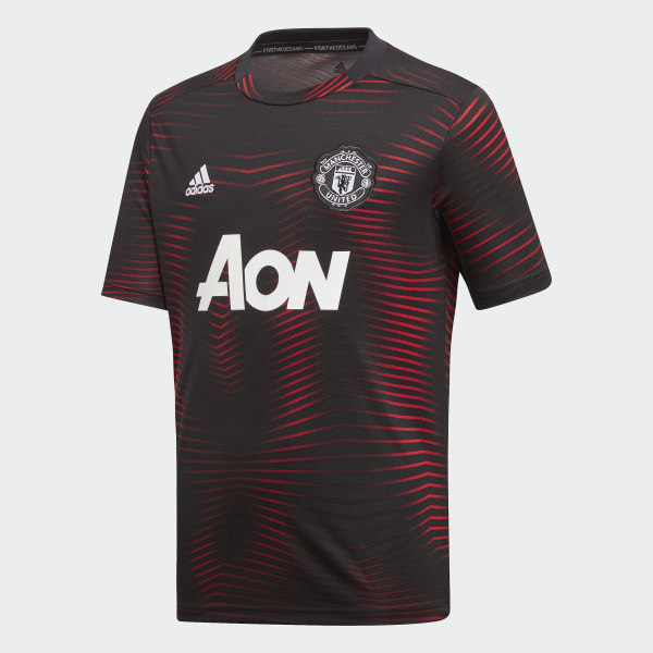 Manchester United Home Pre-Match Jersey Black   Real Red DP2284 53614c0e17124