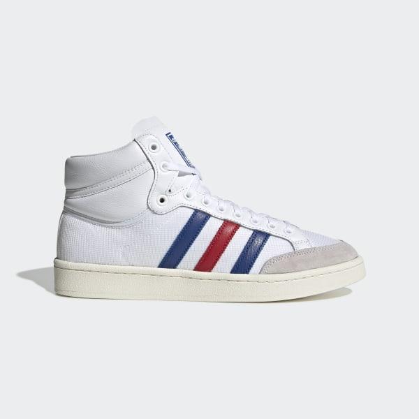 f661c4a586f591 Americana Hi Shoes Ftwr White   Collegiate Royal   Scarlet EF2803