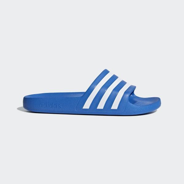 eee0002ae0d6 adidas Adilette Aqua Slides - Blue