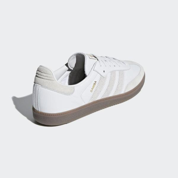Samba OG FT Shoes Crystal White   Raw White   Gold Metallic BD7527 ba7bd0a10