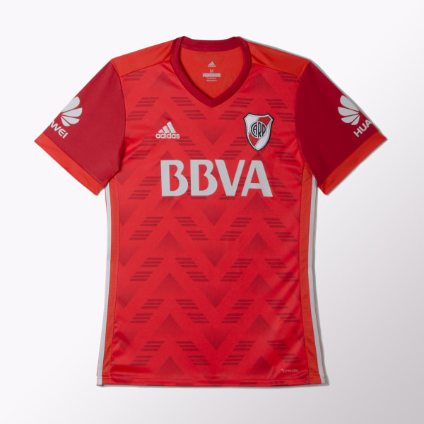 5c33daa7b38f1 Camiseta Visitante River Plate Réplica RED CLEAR ONIX POWER RED BJ8912