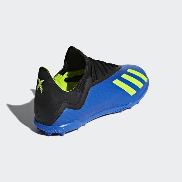 differently f10ad dbb55 Botines X Tango 18.3 Turf FOOTBALL BLUE SOLAR YELLOW CORE BLACK DB2422