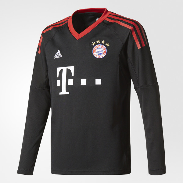 388806a86 FC Bayern Munich Replica Goalkeeper Jersey Black Fcb True Red White AZ7945