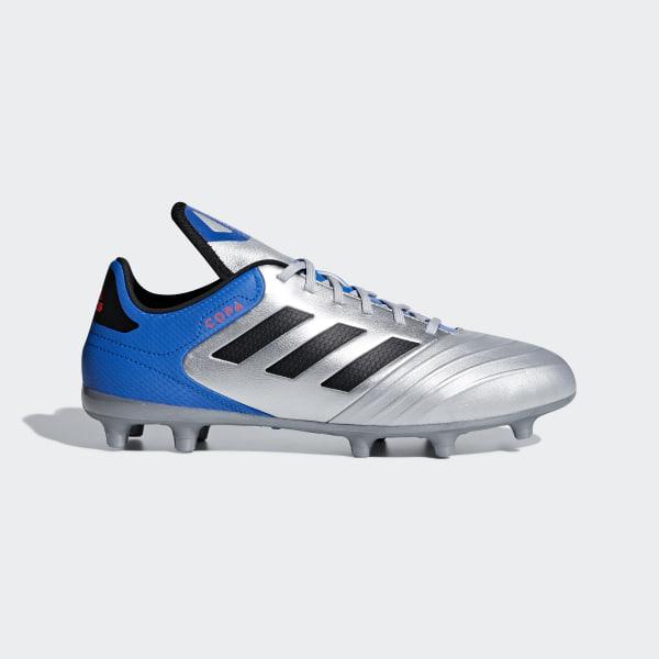 official photos f5567 da5b1 Calzado de Fútbol Copa 18.3 Terreno Firme SILVER MET. CORE BLACK FOOTBALL  BLUE