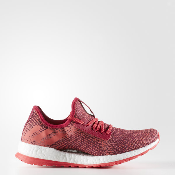 1ad8e5337a858 Pure Boost X Shoes Dark Burgundy   Shock Red   Pink AQ3398