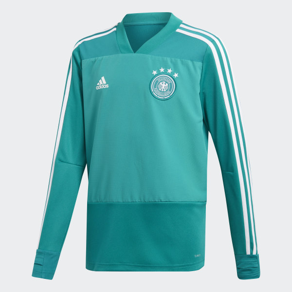 e9d2eadce192f Camiseta entrenamiento Alemania Eqt Green   White CE6622