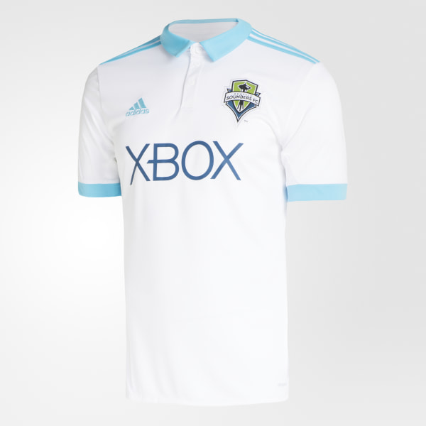 Seattle Sounders FC Away Jersey White   Bright Cyan BP9518 39d0a72d0