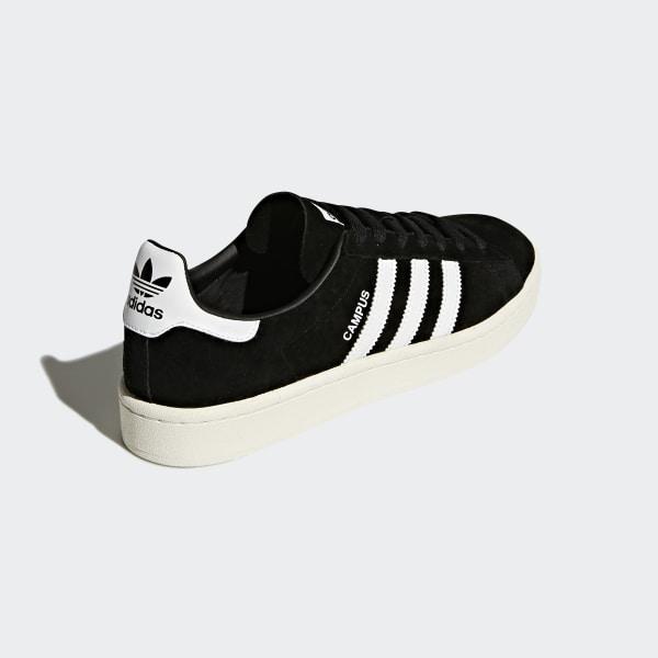 official photos 39102 60119 Campus Shoes Core Black  Cloud White  Chalk White BZ0084