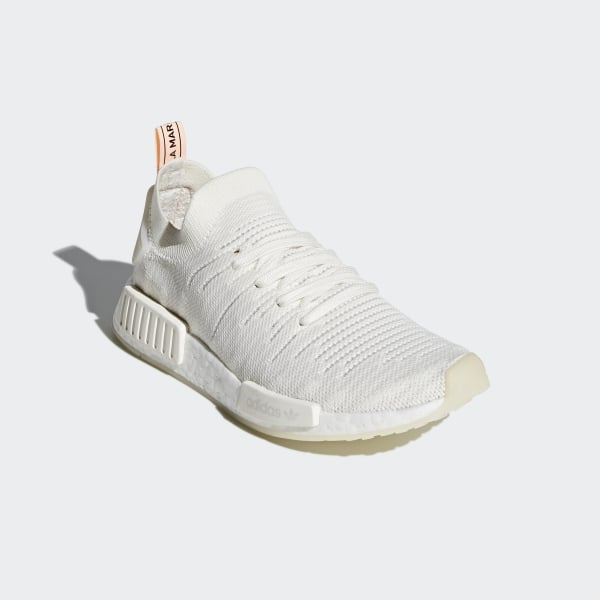 NMD R1 STLT Primeknit Shoes Cloud White   Cloud White   Clear Orange B37655 8d9940f56