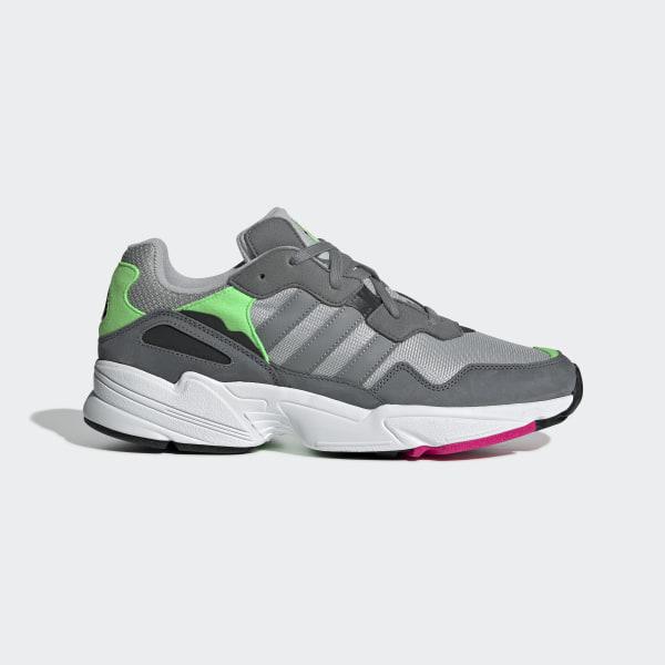 best sneakers 0cfca 51dc7 Zapatillas Yung-96 Grey Two   Grey Three   Shock Pink F35020