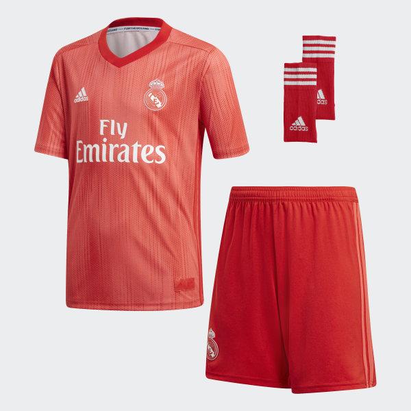 1474bfd657d63 Miniconjunto tercera equipación Real Madrid Real Coral   Vivid Red DP5444