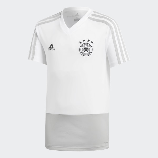 Germany Training Jersey White Grey Two Black CE6608 dba89074d