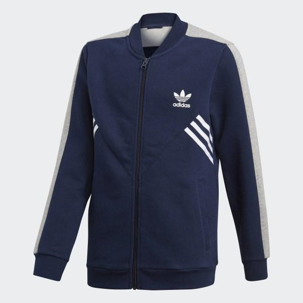 Blaue addidas jacke