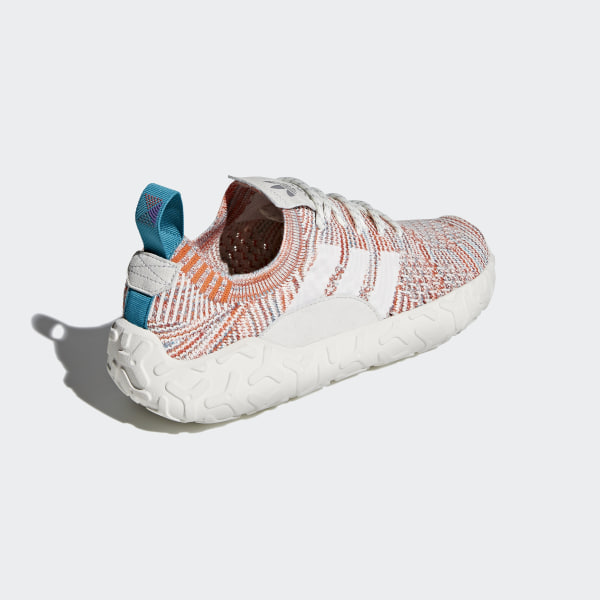 info for e8159 62851 F22 Primeknit Shoes Trace OrangeCrystal WhiteFtwr White AH2172