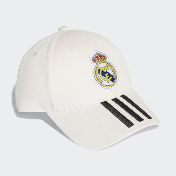 a76bf027e79 Real Madrid 3-Stripes Hat Core White   Black CY5600