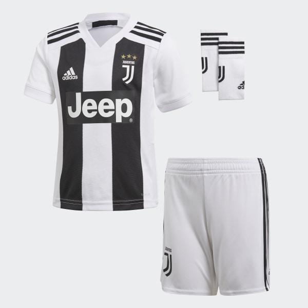 a28888a0a12bd Miniconjunto primera equipación Juventus White   Black CF3495